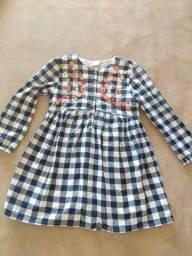Vestido Infantil xadrez 5-6 anos