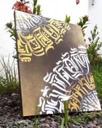 Tela em Caligrafit e Ornamentação