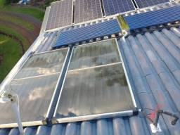 Vendo 2 coletor solar de cobre 2x1 marca ouro fino