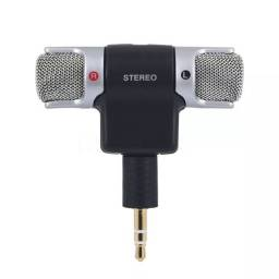 Microfone Stereo P2 Para Câmera e Celular 3.5Mm