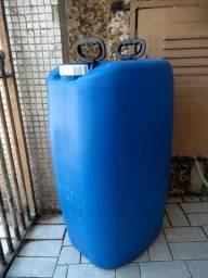 Galão - bombona plástica semi-nova 50 litros para alimentícios