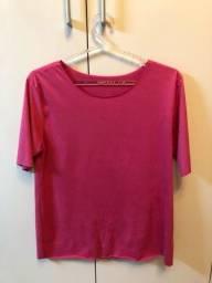 Camiseta rosa de veludo