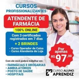 Título do anúncio: Atendente de farmacia