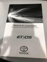Título do anúncio: MANUAL DO PROPRIETÁRIO ETIOS