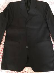 Terno masculino Tweed preto risca de giz