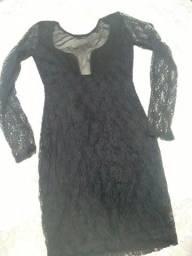 Vestido de tule e Renda