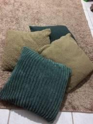 Almofadas com as capas