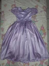 Vestido festa infantil lilás tamanho 9 anos
