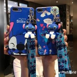 Capa protetora para iPhone luxo Stitch