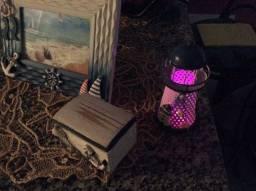 Porta retrato,caixinha e mini luminária