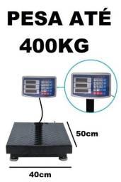 Balança Digital 400Kg plataforma 50x40cm nova na cx com garantia Entrego