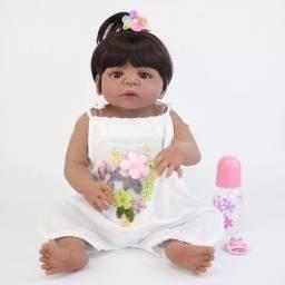 Bebê reborn negra 55cm com entrega grátis*