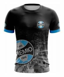 Camiseta Futebol Grêmio Foot-Ball Porto Alegrense Azul e Preto