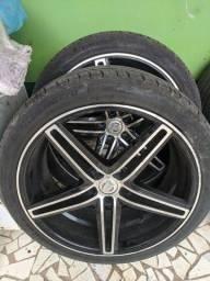 Roda + pneu aro 20 CRUIZER e TRACKER