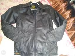 Jaqueta de couro legítimo da marca búfalo