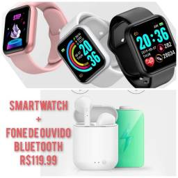 2 smartwatch ou smartwatch + fone + Brinde ??