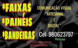 Título do anúncio: FAIXAS, PAINÉIS,BANDEIRAS ETC...