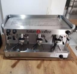 Título do anúncio: Máquina De Café Expresso Profissional Cafeterias Italian Coffee 3 Grupos + Moinho de Grãos