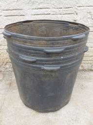Vaso Preto Para Embalagem De Mudas 50 Litros