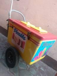 Título do anúncio: carrinho de picolé e sorvete (usado)$1.750