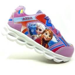 Infantil / Tênis Bebê Infantil Frozen Com LED
