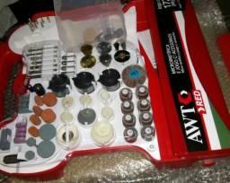 Kit de acessórios para Micro Retifica c 175 peças