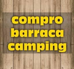 Compro barraca de camping!