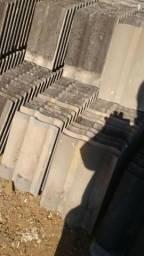 Telhas de concreto cinza Tegula