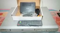 Vendo DVD usado + 1 Receptor de tv Digital novo !!!!!