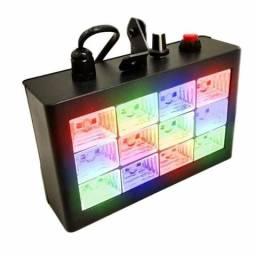 Kit strobo com 12 leds colorido+lampada giratória