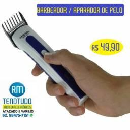 Barbeador e Aparador Elétrico portatil - novo com garantia