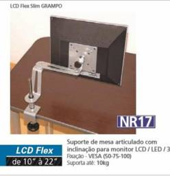 Vendo suporte de mesa articulado com ajuste milimétrico de altura para monitor LCD