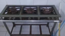 Fogão fogão industrial três bocas