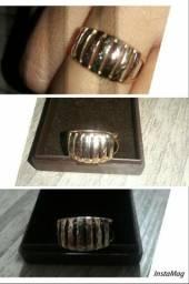 Maravilhoso anel ouro 12k