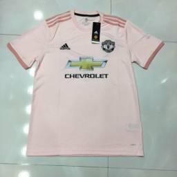aaeb14b3408bd Camisa do Manchester United importada rosa pronta entrega