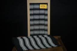 Jogo americano cravo e canela 4 peças preto embalagem kraft ideal para presentear