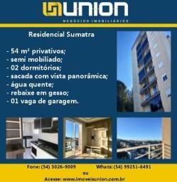Oferta Imóveis Union! Apartamento semi mobiliado com 54 m² com ótima posição solar!