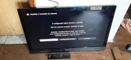 TV SONY 46 SMART VIA CABO com controle!!!