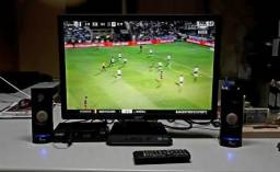 TV led 24 pol* conversor grava, HDmi, A/V, controle