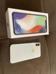IPhone X 256 gb branco estado de zero!com caixa e todos os acessórios 3.300 aceito cartão