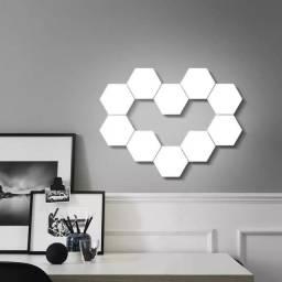 Lâmpada de parede hexagonal kite C 10 lâmpadas