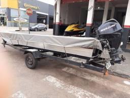 Barco Completo Motor Mercury 25hp 4 tempos injecao eletrônica