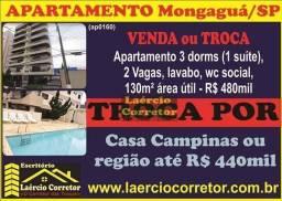 Troca Apartamento Mongaguá Por Casa em Campinas ou Região - Valor R$ 480mil
