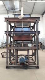 Maquina de blocos hidráulica com alimentador de palets