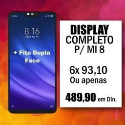 Display Completo / Tela Para Xiaomi Mi 8 Já Instalada