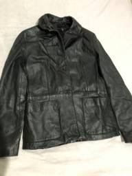 Jaqueta de couro legítima Zara