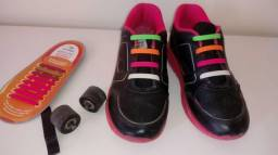 Tênis infantil marca Ortope de rodinha