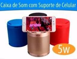 CAIXA DE SOM BLUETOOTH COM SUPORTE PARA CELULAR 5W