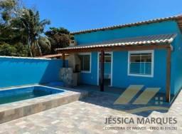 Título do anúncio: Linda casa com 2 quartos, área gourmet e piscina em Unamar, Tamoios - Cabo Frio - RJ