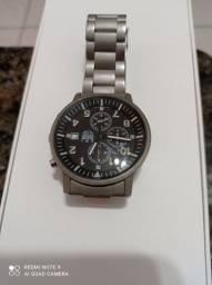 Relógio Dumont com pulseira e caixa em Titânio/ Ótimo para quem tem alergia
